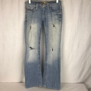 Big Star Womens 27 x 31.5 Low Rise Destroyed Jeans